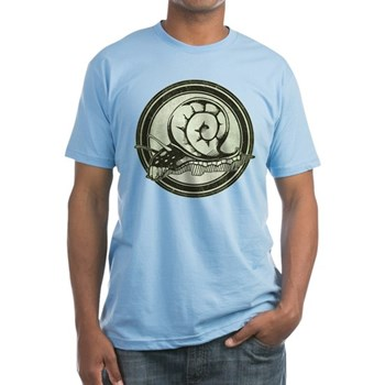 Distressed Wild Snail Stamp Fitted T-Shirt