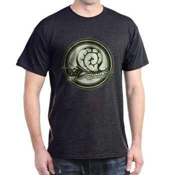 Distressed Wild Snail Stamp Dark T-Shirt
