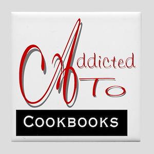 Addicted To Cookbooks Tile Coaster