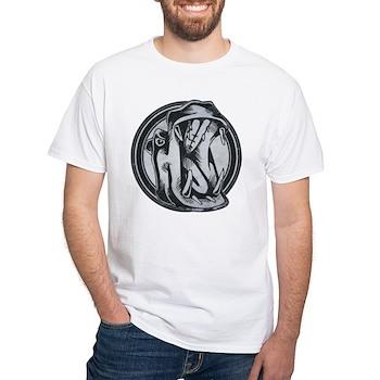 Distressed Wild Hippo Stamp White T-Shirt