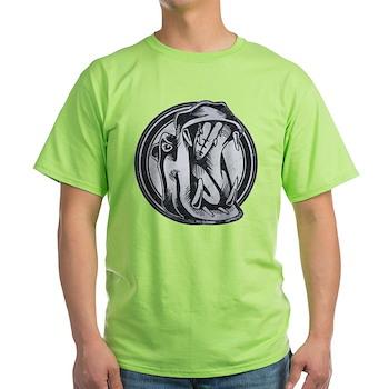 Distressed Wild Hippo Stamp Light T-Shirt