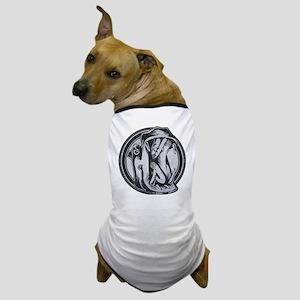 Distressed Wild Hippo Stamp Dog T-Shirt