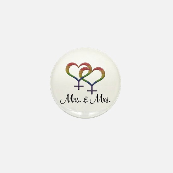 Mrs. & Mrs. Mini Button