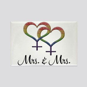 Mrs. and Mrs. Rectangle Magnet