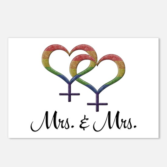 Mrs. & Mrs. Postcards (Package of 8)