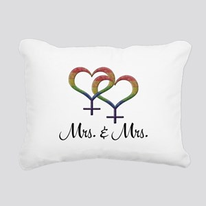 Mrs. and Mrs. Rectangular Canvas Pillow