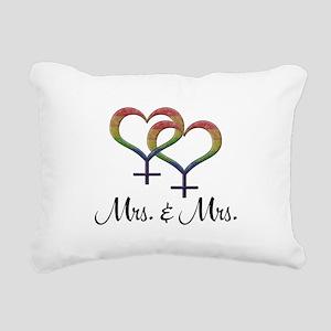 Mrs. and Mrs. Rectangular Canvas Pillow