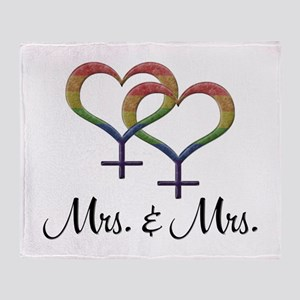 Mrs. and Mrs. Throw Blanket
