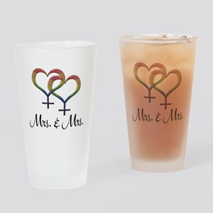 Mrs. and Mrs. Drinking Glass