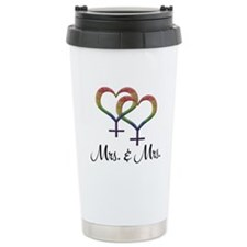 Mrs. and Mrs. 16 oz Stainless Steel Travel Mug