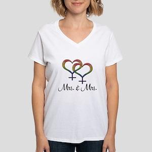 Mrs. & Mrs. Women's V-Neck T-Shirt