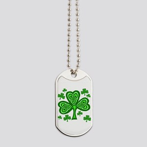 Celtic Shamrocks Dog Tags