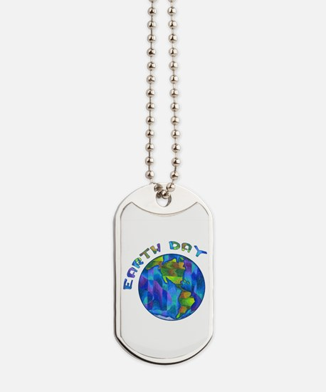 Earth Day World Dog Tags