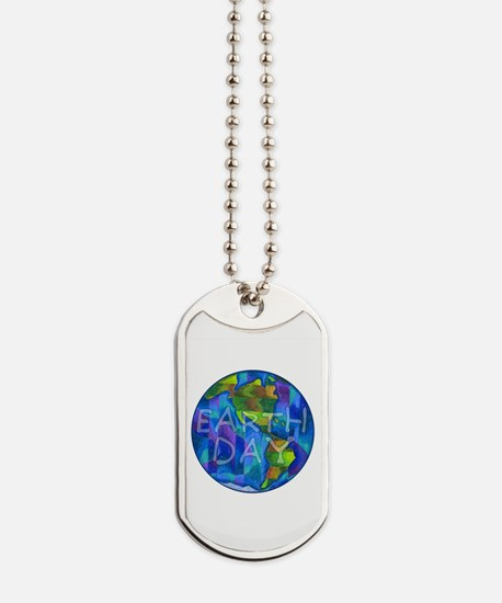 Earth Day Planet Dog Tags