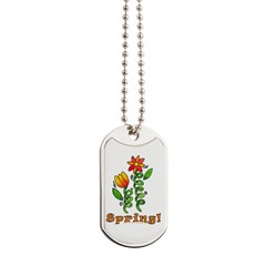 Spring Flowers Dog Tags