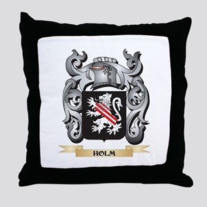 Holm Coat of Arms - Family Crest Throw Pillow