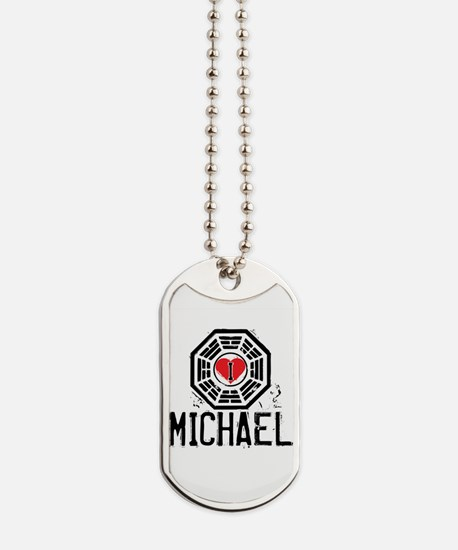 I Heart Michael - LOST Dog Tags