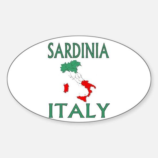 Sardinia, Italy Oval Decal