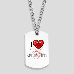 I Heart Betty Applewhite Dog Tags