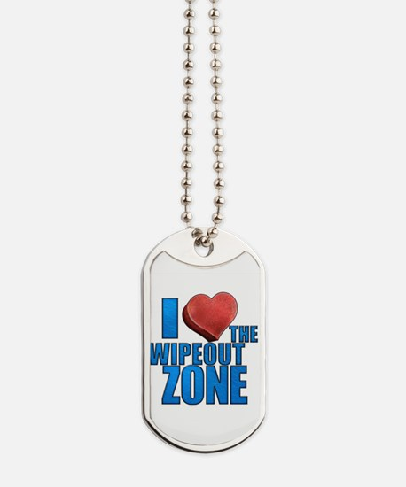 I Heart the Wipeout Zone Dog Tags
