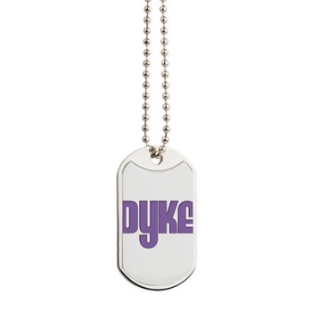 Purple Dyke Dog Tags