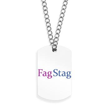 Fag Stag Dog Tags