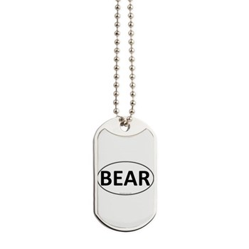 BEAR Euro Oval Dog Tags