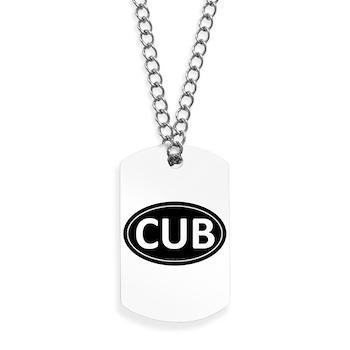CUB Black Euro Oval Dog Tags