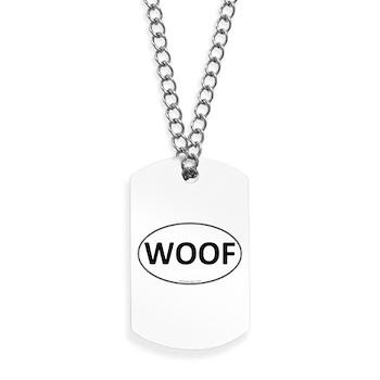 WOOF Euro Oval Dog Tags