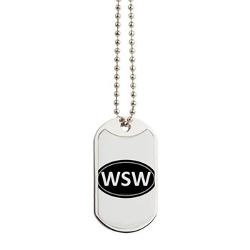 WSW Black Euro Oval Dog Tags
