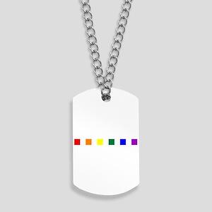 Rainbow Pride Squares Dog Tags