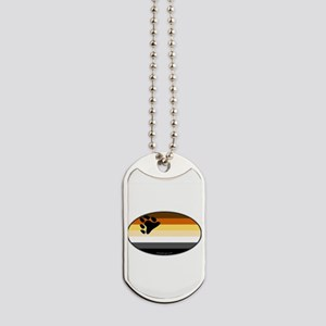 Oval Bear Pride Flag Dog Tags