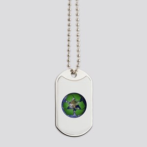 Green Recycle on Earth Dog Tags