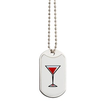 Vampire Martini Dog Tags