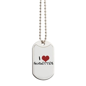 I Heart Guidettes Dog Tags