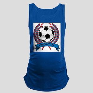 Soccer Croatia Maternity Tank Top