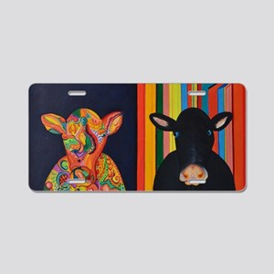 Two cows Aluminum License Plate