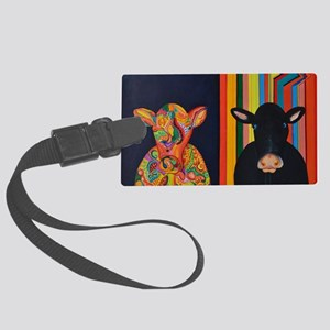 Two cows Large Luggage Tag