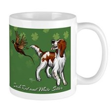 Irish Red and White Setter with Clovers Mug