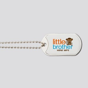 Personalized Monkey Little Brother Dog Tags