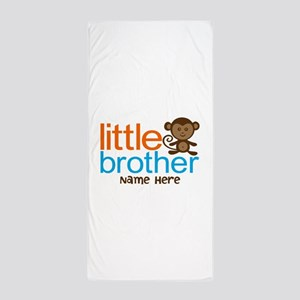 Personalized Monkey Little Brother Beach Towel
