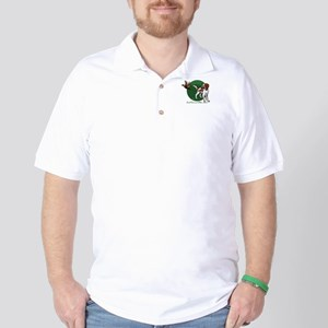 Irish Red and White Setter Golf Shirt