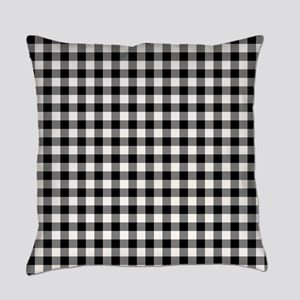 Buffalo Plaid Black and White Everyday Pillow