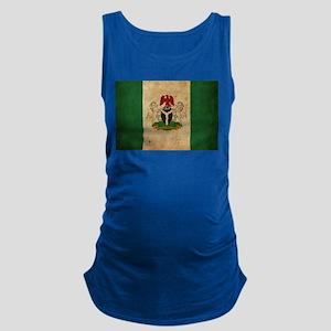Vintage Nigeria Flag Maternity Tank Top