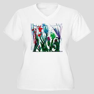 flowers under win Women's Plus Size V-Neck T-Shirt