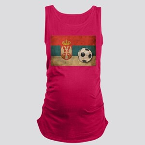 Vintage Serbia Football Maternity Tank Top