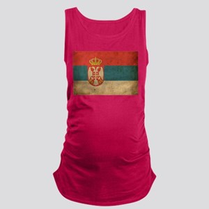 Vintage Serbia Flag Maternity Tank Top