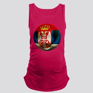 Serbia Football Maternity Tank Top