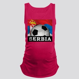 Football Serbia Maternity Tank Top
