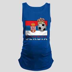 Serbia Football Maternity Tank Top